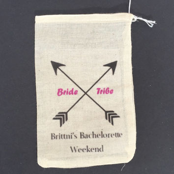 10 bachelorette survival kit drawstring bags, bachelorette party favor bags, bachelorette hangover kits, bride tribe hangover bags