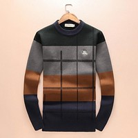 Burberry Women or Men Fashion Casual Embroidery Top Sweater Pullover