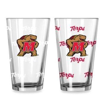 University of Maryland Color Changing 16-Ounce Pint Glasses (Set of 2)