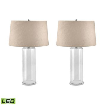 750/S2-LED You-Fill-It Clear Glass LED Table Lamp