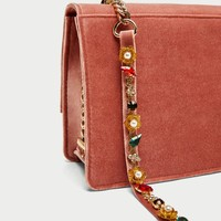 CROSSBODY BAG WITH BEADED CHAIN