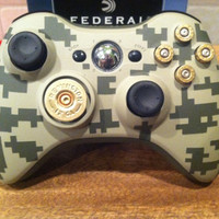 Xbox digital camo controller 9mm bullet button 12 guage shotgun shell dpad Flat Dark Earth FDE Army Green black ops call of duty
