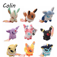 "1pcs  Plush Toys 5"" Umbreon Eevee Espeon Jolteon Vaporeon Flareon Glaceon Leafeon Animals"