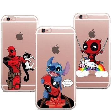 Deadpool Dead pool Taco LOVINA CASES Soft Funny  and cat Phone Case For iPhone X Phone Cover For iPhone 5 5S SE 6 6S Plus 7 XR XS Max 8 8Plus AT_70_6