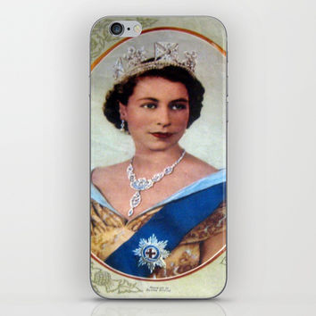 Queen Elizabeth 11 & Prince Philip in 1952 iPhone & iPod Skin by Chris' Landscape Images & Designs