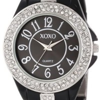 XOXO Women's XO5461 Rhinestone Accent Black Analog Bracelet Watch