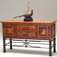 Copper Furniture Collection, Copper Patina Cabinet, Copper Vanity Furnishing Designs
