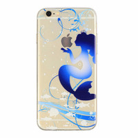 Blue Mermaid Princess Case for iPhone