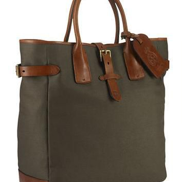 Polo Ralph Lauren Canvas-Leather Tote