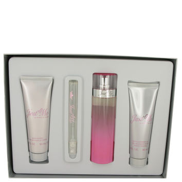 Just Me Paris Hilton by Paris Hilton Gift Set -- 3.3 oz Eau De Parfum Spray + 3 oz Body Lotion + 3 oz Shower Gel + .34