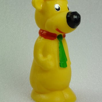 Vintage Rubber Yogi Bear Bath Toy Chew Toy 1980s Collectible Toy