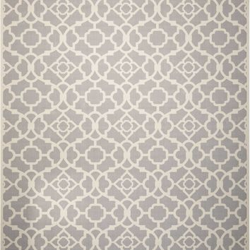 Waverly Sun & Shade Lovely Lattice Grey Indoor/Outdoor Area Rug by Nourison