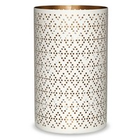 Threshold™ Pierced Patterned Hurricane Candle Holder White 8""