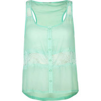 FULL TILT Lace Inset Womens Tank