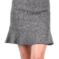 Finish off a stylish outfit with this Delicate Dream Tweed Skirt! This pencil skirt features textured tweed fabrication, structured seams, flared pleated bottom, stitching details, and finished with exposed back zipper closure. Fully lined.