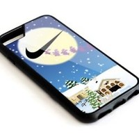 Nike2017 Cartoon Deer Christmas iPhone 5 5s 6 6s 7 8 X Plus Hard Plastic Case