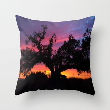 SunseT at the Tree of Knowledge Throw Pillow by 2sweet4words Designs