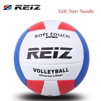 REIZ Volleyball Ball Indoor Outdoor Competition Training Ball Men Women Official Size Weight Soft Touch Volleyball high quality