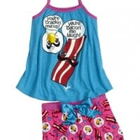 Bacon And Eggs 2pc Pajama Set | Girls Pajamas Pjs, Bras & Panties | Shop Justice