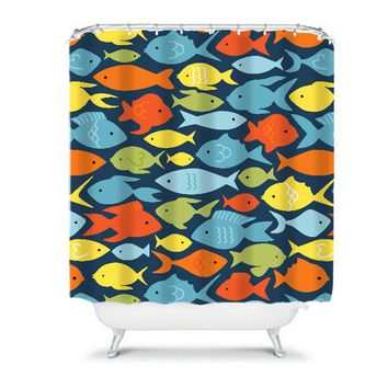 FISH SHOWER CURTAIN Custom Monogram Personalized Child Kid Nautical Bathroom Ocean Bathroom Decor Bath Towel,  Bath Mat
