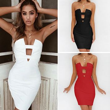 Sexy Summer Corset One Piece Dress [1914361774134]