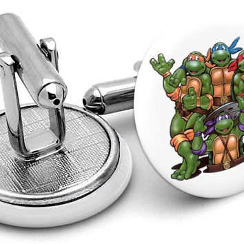 Ninja Turtles Teenage Mutant Cufflinks