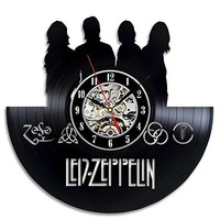 Led-Zeppelin Art Vinyl Wall Clock Gift Room Modern Home Record Vintage Decoration