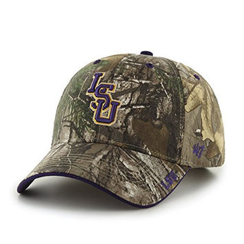 NCAA LSU Tigers Frost Mvp Adjustable Hat, One Size, Realtree Camouflage