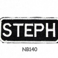 Steph Iron on Name Badge Patch for Motorcycle Biker Jacket and Vest NB140