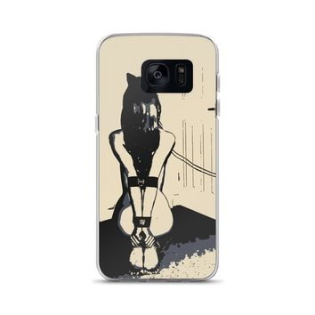 Samsung Galaxy Solid Case - Hourglass perfection, kitten sub