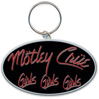 Motley Crue Girls, Girls, Girls Metal Key Chain Silver