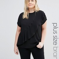 Junarose Frill Detail Woven Top at asos.com