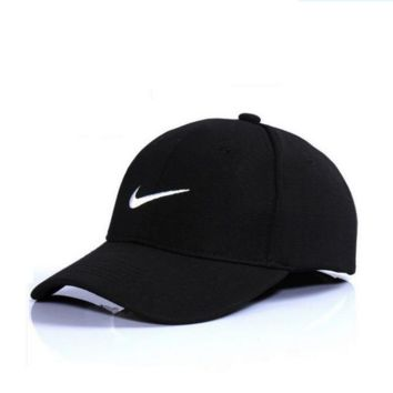 Black Nike Authentic Embroidered Baseball Caps Hat