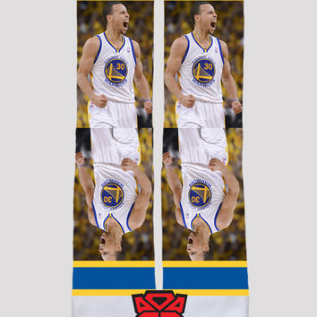 Stephen Curry - MVP - National Basketball Association - Golden State Warriors - Custom socks - Socktimus Prime