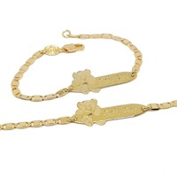 """(1-0967-h5) Gold Filled Baby Bracelet with Bear, 6"""""""