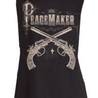 Peace Maker Muscle Tee Black