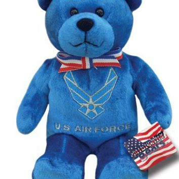 "Holy Bears, Teddy Bear, 8"" Approx Stuffed Animal, Blue United States Air Force Bear. Honoring Those Who Serve."