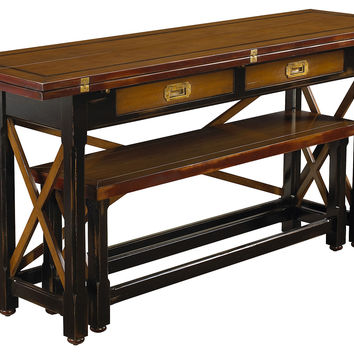 Dining Table, Hunt Table and Dining Bench, Set of 2