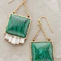 Malachite Peak Drops by Anthropologie Green One Size Earrings
