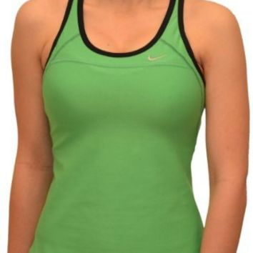 Amazon.com: Nike Women's High Impact Running Sports Bra Tank Top-Green/Black: Clothing
