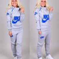 Nike' Casual Hoodie Sweater Pants Trousers Set Two Piece
