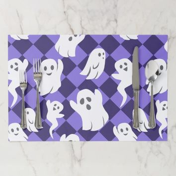 Halloween Ghosts Paper Placemat