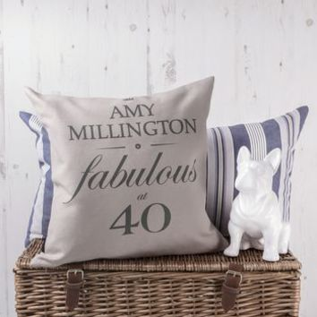 Birthday Cushion Cover