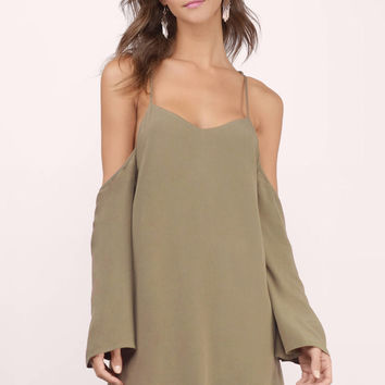 Tuscan Nights Cold Shoulder Dress