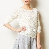 Slip Stitch Pullover by Anthropologie Ivory Xs Sweaters