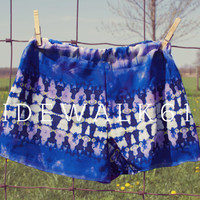 Deep Purple Tie Dye Shorts