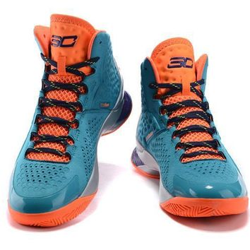 Under Armour Curry Pink /Green Basketball Shoes