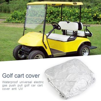 Waterproof Universal 4 Passenger Electric Gas Push Pull Golf Car Cart Cover
