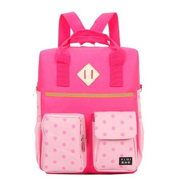 Backpack Women Canvas Cartoon Shoulder Bag Schoolbag Backpacks for Teenage Girls