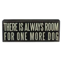 Primitives by Kathy Wood Box Sign, 8-Inch by 3-Inch, One More Dog